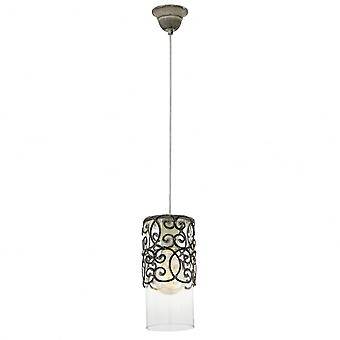 Eglo Single Hanging Light E27 BRAUN-PATINA 'CARDIGAN'