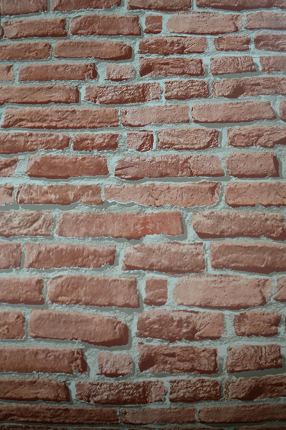 Debona Brick effect Orange/Brown Real Outdoor Effect Wallpaper