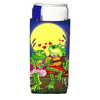Frosch Liebe Lieder Michelob Ultra Getränke Isolatoren für schlanke Dosen