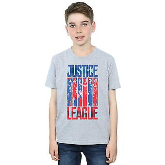 DC Comics Boys Justice League Movie Team Flag T-Shirt