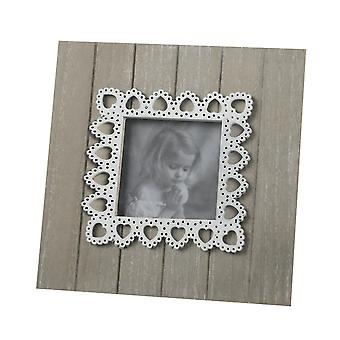 Heaven Sends Lace Heart Photo Frame