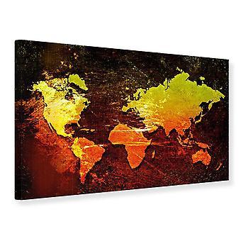 Mapa de mundo Retro impresión de lienzo
