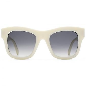 Stella McCartney Falabella Chain Temple Detail Square Sunglasses In Ivory