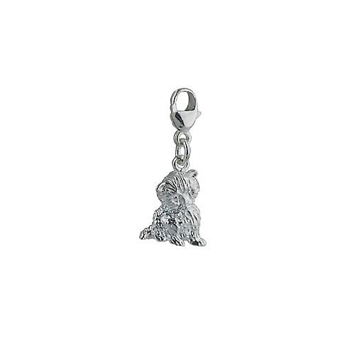 Silver 12x11mm Kitten Charm on a lobster trigger