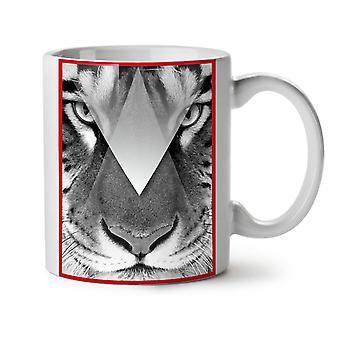 Ojos del tigre nuevo té blanco taza de café de cerámica 11 oz | Wellcoda