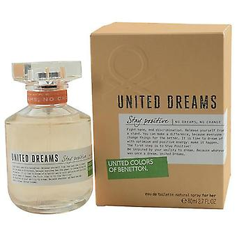 Benetton United Dreams Stay Positive By Benetton Edt Spray 2.7 Oz