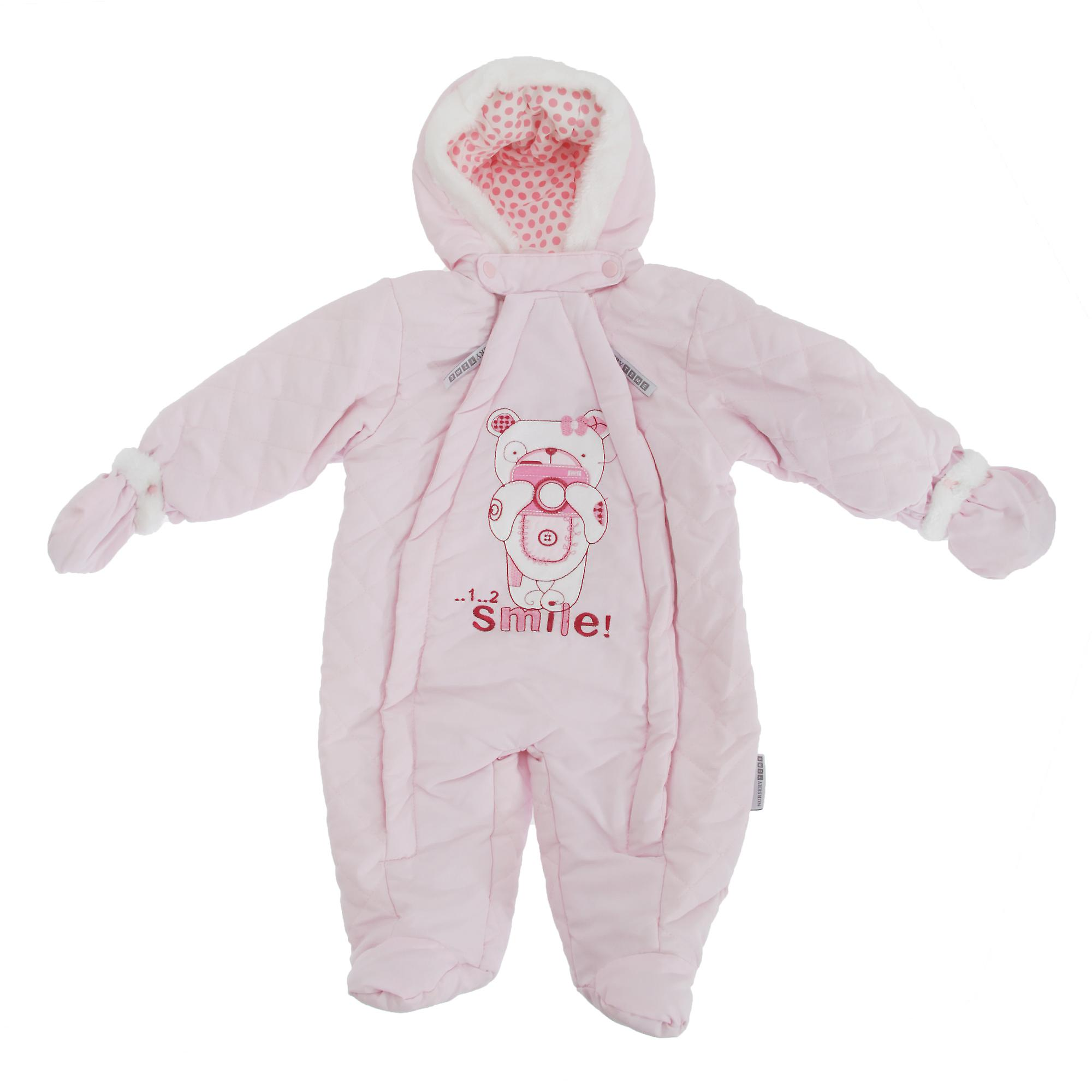 Baby Boys/Girls Teddy Bear Camera All In One Hooded Winter Snowsuit