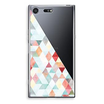 سوني إريكسون XZ قسط شفافية القضية (الناعمة)-باستيل مثلثات ملونة