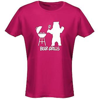 Bear Grills BBQ Womens T-Shirt 8 Colours (8-20) by swagwear