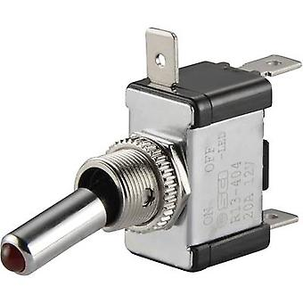 SCI Car toggle switch R13-404-SQ RED 12 Vdc 20 A 1 x Off/On latch 1 pc(s)