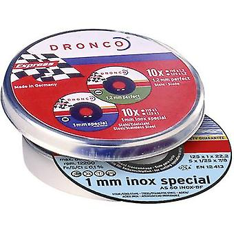 10x cutting discs AS60T INOX Dronco 6900935-100 Diameter 115 mm