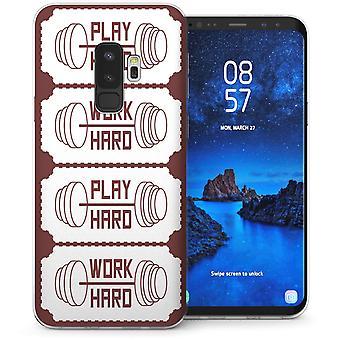 Samsung Galaxy S9 Plus werk Hard Speel harde Slogan TPU Gel geval-Brown