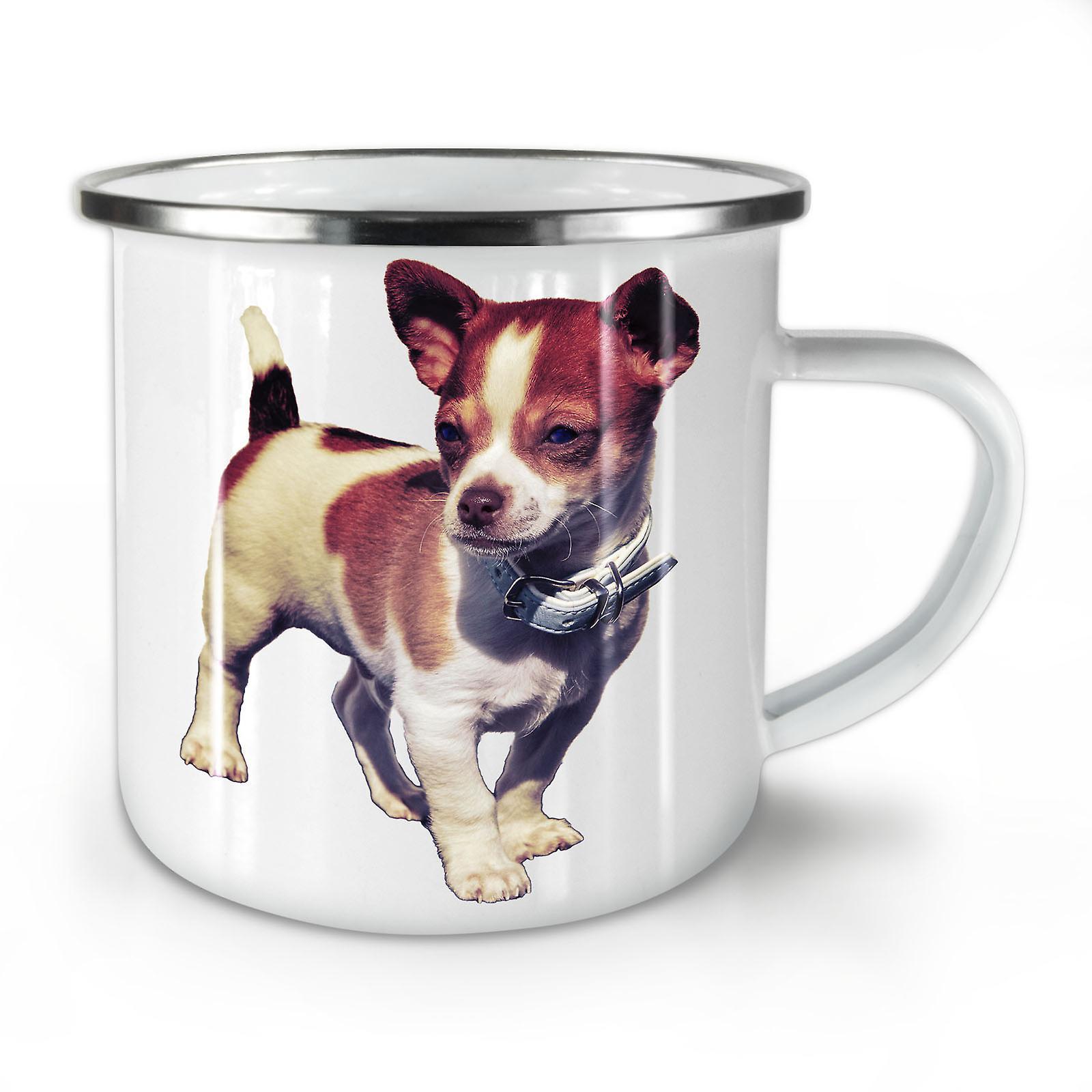 Mignon Animal Café Chiot Nouveau Émail OzWellcoda Mug10 Whitetea 4Rq3AL5j