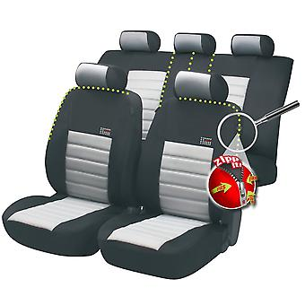 Sport Speed Car Seat Cover Black & Grey For Peugeot 1007 2005-2009