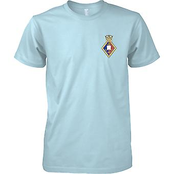 HMS Wales - Royal Navy Ufer Einrichtung T-Shirt Farbe