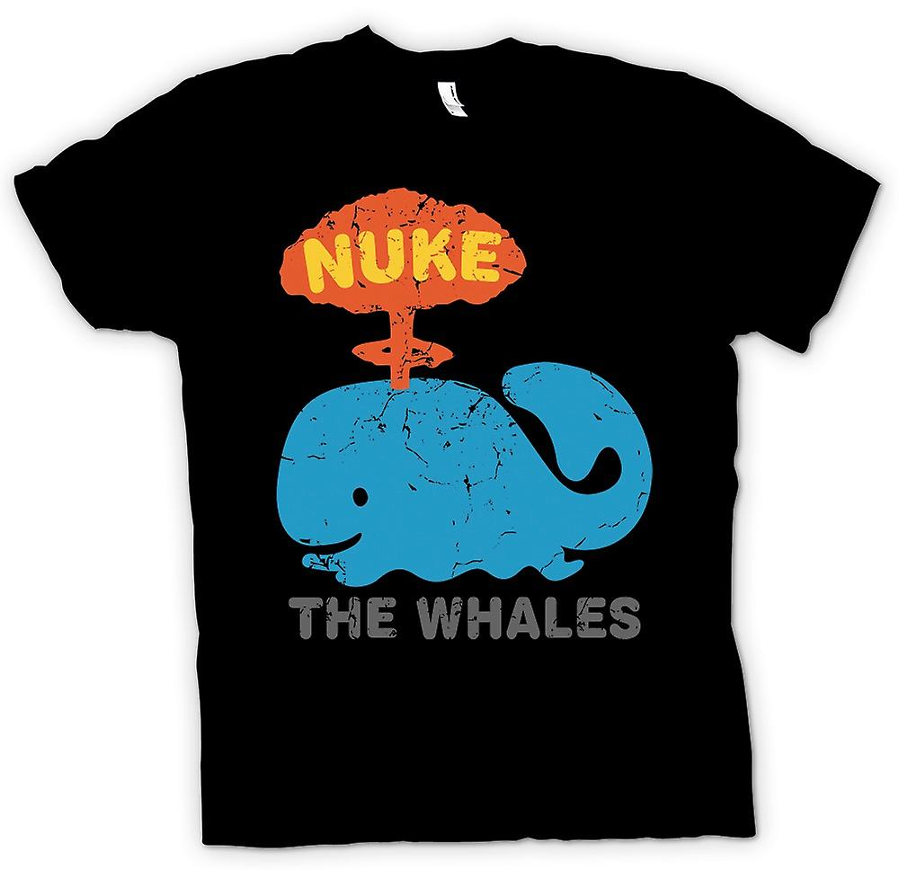 Mens T-shirt - Nuke The Whales - Funny