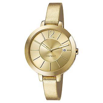 ESPRIT ladies watch bracelet watch Amelia leather gold ES107242003