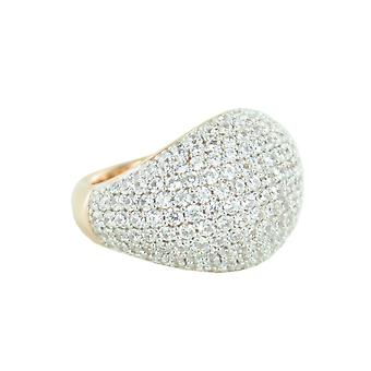 ESPRIT collection ladies ring silver Rosé cubic zirconia nyxia Gr. 17 ELRG92034D170