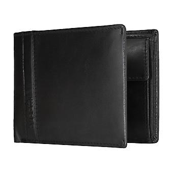 Apparente borsa borsa portafoglio portamonete nero Bugatti Trenta uomo 5180