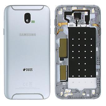 Samsung GH82-14448B batteriluckan cover för Galaxy J7 J730F 2017 Duo Silver