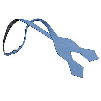 Parisiense Chambray azul algodão apontou auto gravata gravata
