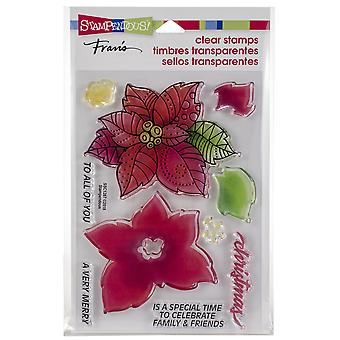 Stampendous Perfectly Clear Stamps -Poinsettia Parts