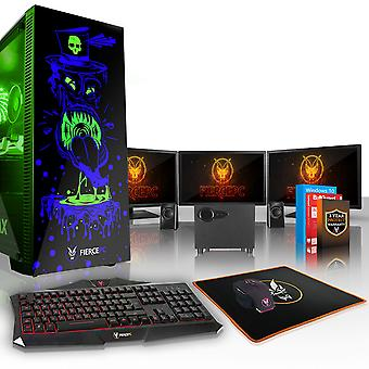 Fierce GOBBLER Gaming PC, Fast Intel Core i7 8700K 4.5GHz, 2TB SSHD, 16GB RAM, GTX 1070 8GB