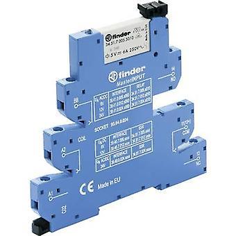 Finder 39.41.0.012.5060 - MasterINPUT Electromechanical Relay Interface Module, EMR, SPDT-CO 250V AC 6A