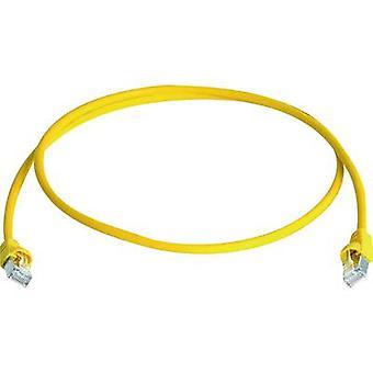 Telegärtner RJ45 Networks Cable CAT 6A S/FTP 25 m Yellow Flame-retardant, Halogen-free