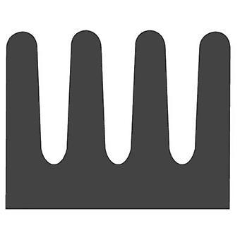 Heat sink 83 C/W (L x W x H) 8.5 x 6.3 x 4.8 mm DIL 6, DIL 8 Fischer Elektronik ICK 6/8 L