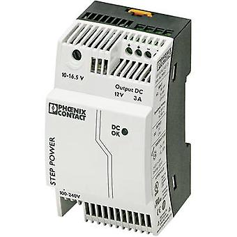 Phoenix Contact STEP-PS/1AC/12DC/3 Rail mounted PSU (DIN) 12 Vdc 3.3 A 36 W 1 x