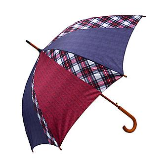 Tweed Herringbone Navy, Red and Stewart Dress  Print  Straight Umbrella