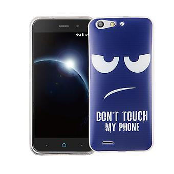 Cas de téléphone portable pour lame ZTE silicone de slim de motif d'affaire sac protecteur de la couverture du V6 TPU ne touchez pas à mon téléphone Blau