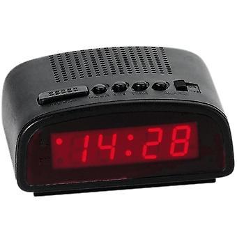 アトランタ 155/7 警報ネットワーク目覚まし時計スヌーズ デジタル黒赤デジタル目覚まし時計