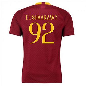 2018-2019 Roma Authentic Vapor Match Home Nike Shirt (El Shaarawy 92)