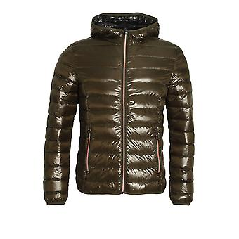 883 POLICE Downer Hooded Duck Down Jacket Khaki