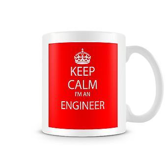 Keep Calm je suis un Mug imprimé de l'ingénieur
