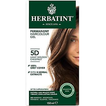 Herbatint, Light Gold Chestnut Hair Col 5D, 150ml