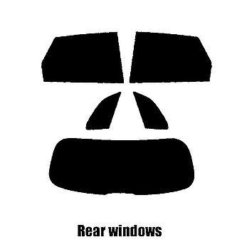 Pre cut window tint - Audi Q5 - 2018 and newer - Rear windows