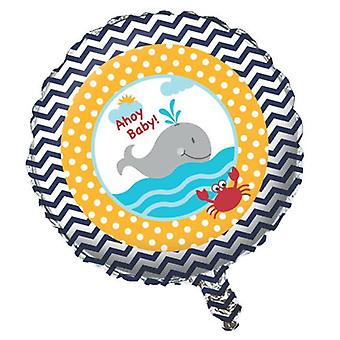 Small sailor foil balloon helium 45 cmMatrosenparty birthday decoration