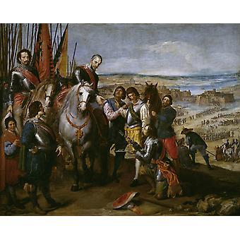 De overgave van Gulik, José Leonardo, 50x40cm