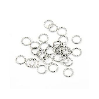 Packet 100+ Silver 304 Stainless Steel Round Open Jump Rings 0.7 x 6mm Y02035