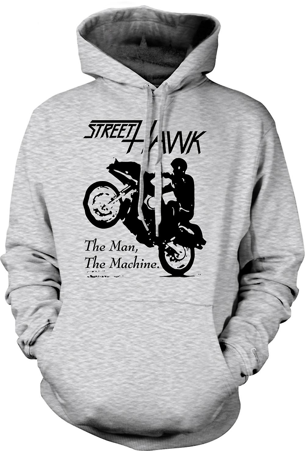 Mens Hoodie - Street Hawk - Bike - Crime Fighter
