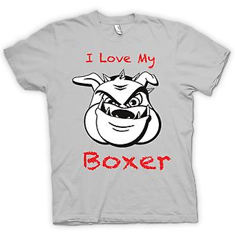 Mens T-shirt - I Love My Boxer Dog