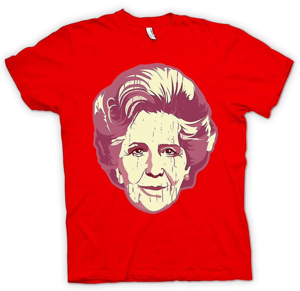 Mens T-shirt-Margaret Thatcher Pop-Art