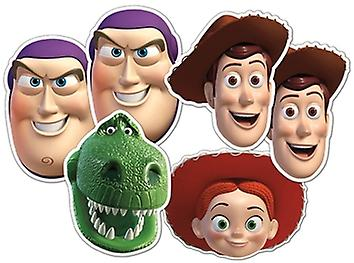 Toy Story Card Face Masks Set of 6 (Woody x 2, Buzz x 2, Jessie and Rex)