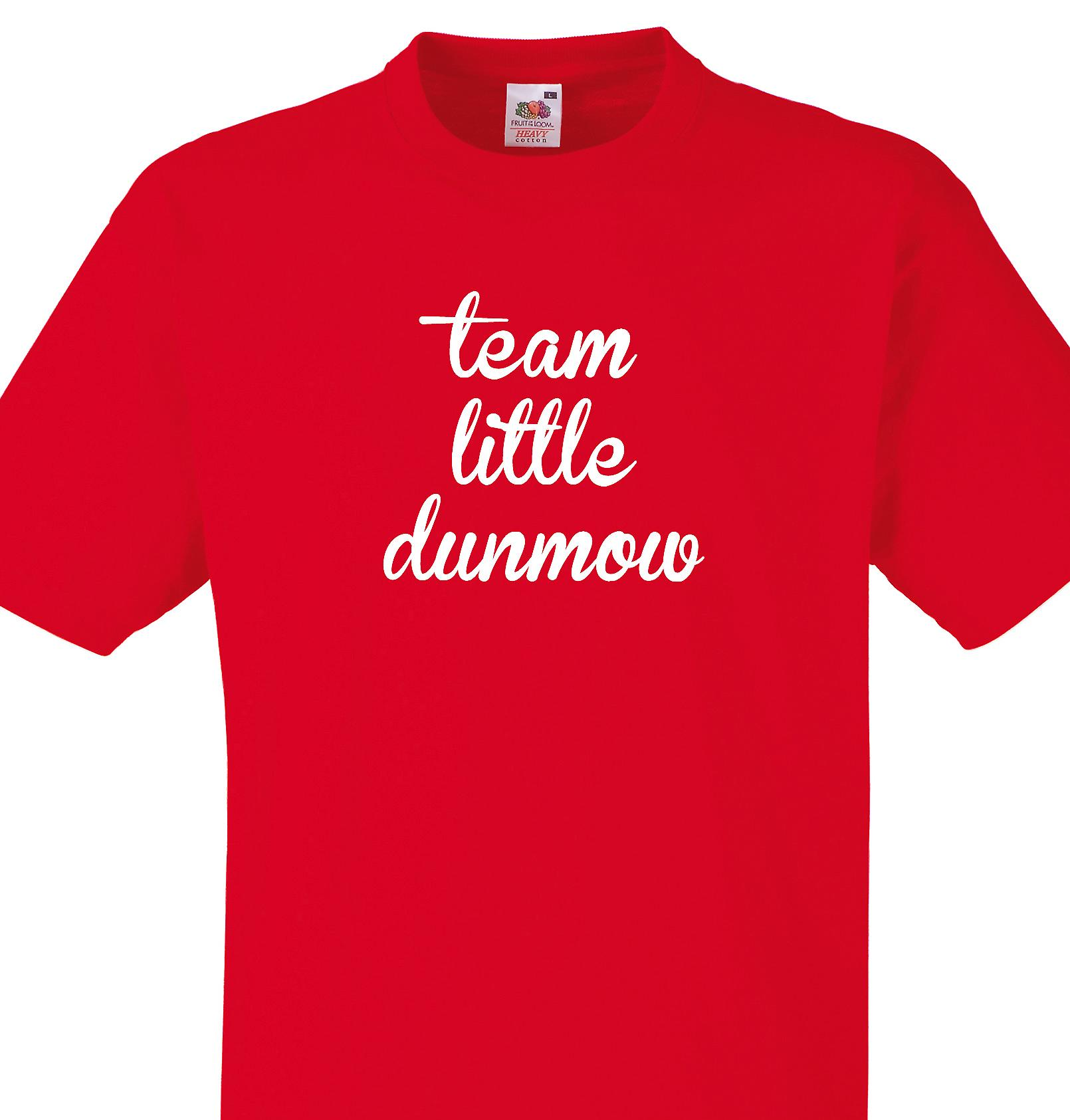 Team Little dunmow Red T shirt