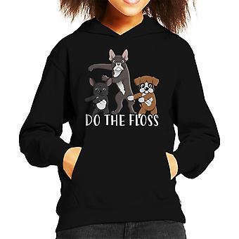 Cute Pet Dogs Do The Floss Kid's Hooded Sweatshirt