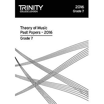 Trinity College London Theory of Music Past Paper� (2016) Grade 7