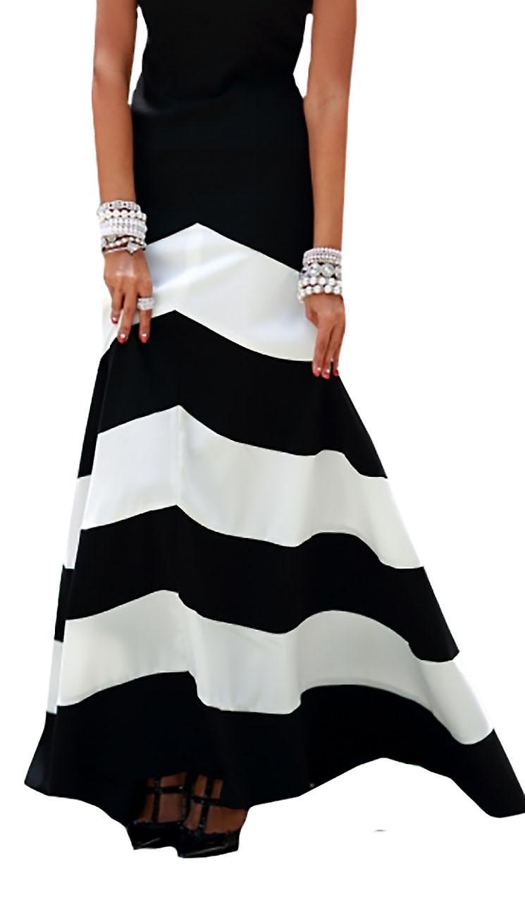 Waooh - Long Flared Dress Grapya stripes